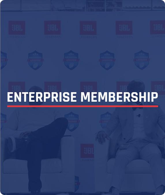 NFL Alumni Enterprise Membership - box image with text overlay