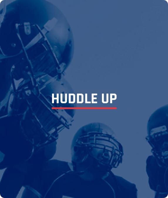 NFL Alumni Huddle Up - box image with text overlay